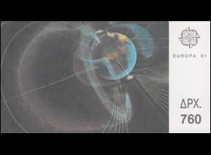 Griechenland Markenheftchen 14 Europa 1991, ** postfrisch