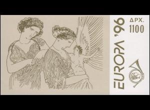 Griechenland Markenheftchen 19 Europa 1996, ** postfrisch