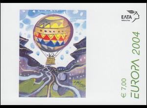 Griechenland Markenheftchen 27 Europa 2004, ** postfrisch