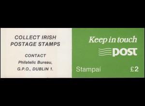 Irland-Markenheftchen 9 Architektur 1985, ** postfrisch
