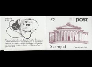 Irland-Markenheftchen 11 Architektur 1988, ** postfrisch