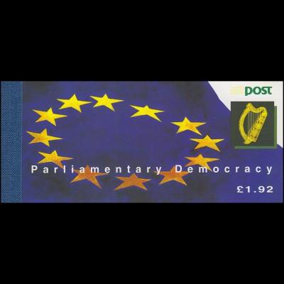 Irland-Markenheftchen 26 Irisches und Europäisches Parlament, ** postfrisch