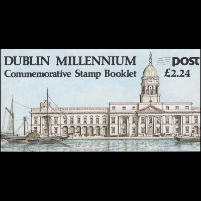 Irland-Markenheftchen 642 DUBLIN MILLENNIUM - 1000 Jahre Dublin, ** postfrisch