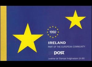 Irland-Markenheftchen 810 Europäischer Binnenmarkt, ** postfrisch