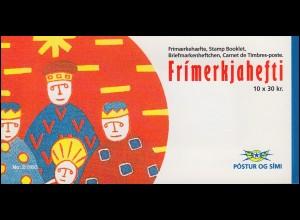 Island Markenheftchen 795 Weihnachten, 300 Kr. 1993, ** postfrisch