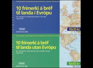 Island Markenheftchen 800-801 Europa, MH-Paar ** postfrisch