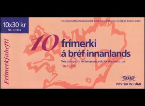 Island Markenheftchen 824 NORDEN - Tourismus 300 Kr, ** postfrisch