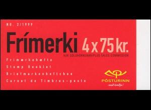 Island Markenheftchen 911 Fahrzeuge: Fischkutter SIGURFARI (Nummer 2/1999), **