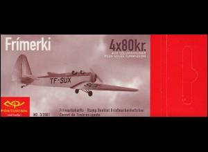 Island Markenheftchen 980 Historische Flugzeuge: TF-SUX, **