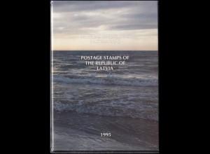 393-419 Lettland / Latvija Die Jahressammlung / Mappe 1995 komplett, **