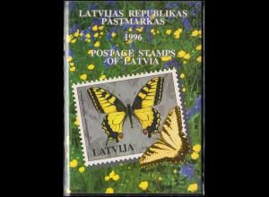 420-446 Lettland / Latvija Die Jahressammlung / Mappe 1996 komplett, **