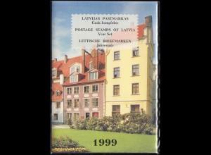 495-516 Lettland / Latvija Die Jahressammlung / Mappe 1999 komplett, **