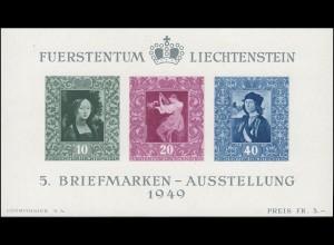Liechtenstein Block 5 Briefmarkenaustellung in Vaduz 1949, postfrisch **