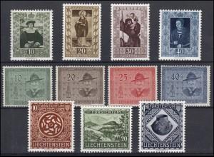 311-321 Liechtenstein-Jahrgang 1953 komplett, postfrisch