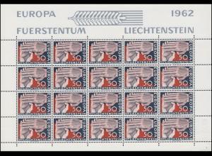 418 Europa / CEPT 1962, Kleinbogen **