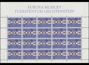 454 Europa / CEPT 1965, Kleinbogen **
