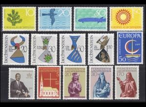 460-473 Liechtenstein Jahrgang 1966 komplett, postfrisch