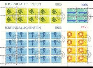 460-463 Naturschutz Erde, Luft, Wasser und Natur 1966, Kleinbogen-Satz ESSt