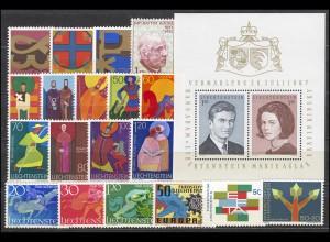 474-494 Liechtenstein Jahrgang 1967 komplett, postfrisch