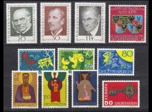 495-505 Liechtenstein Jahrgang 1968 komplett, postfrisch