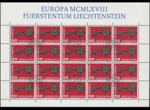 495 Europa / CEPT 1968, Kleinbogen ESSt