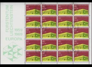 507 Europa / CEPT 1969, Kleinbogen ESSt