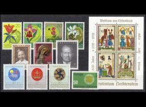 521-535 Liechtenstein Jahrgang 1970 komplett, postfrisch