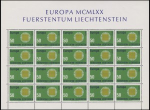 525 Europa / CEPT 1970, Kleinbogen **