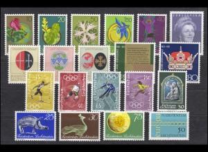 536-555 Liechtenstein Jahrgang 1971 komplett, postfrisch