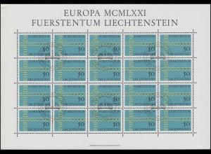 545 Europa / CEPT 1971, Kleinbogen ESSt