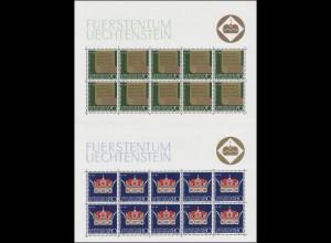 546-547 Jubiläum 50 Jahre neue Verfassung 1971, Kleinbogen-Satz **