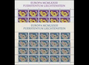 579-780 Europa / CEPT - Posthorn, 2 Werte, Kleinbogen-Satz **