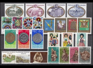 667-691 Liechtenstein Jahrgang 1977 komplett, postfrisch