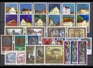 692-722 Liechtenstein Jahrgang 1978 komplett, postfrisch