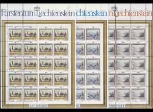 821-823 Landschaftsgemälde 1983, 3 Werte, Kleinbogen-Satz **