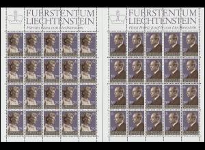 828-829 Fürst Franz Joseph II. und Fürstin Gina 1983, Kleinbogen-Satz **