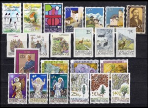 893-915 Liechtenstein Jahrgang 1986 komplett, postfrisch
