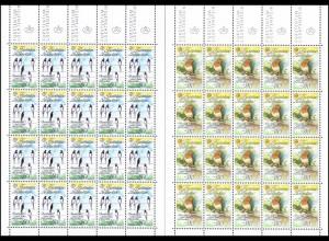 893-894 Europa: Natur und Umweltschutz 1986, Kleinbogen-Satz **