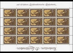 902 Liechtensteinische Landesbank 1986, Kleinbogen **