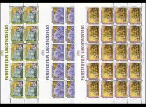 904-906 Ackerfrüchte 1986, 3 Werte, Kleinbogen-Satz **