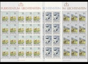 907-909 Jagdwesen 1986, 3 Werte, Kleinbogen-Satz **
