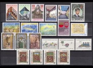 916-936 Liechtenstein Jahrgang 1987 komplett, postfrisch