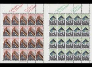 916-917 Europa / CEPT: Moderne Architektur 1987, 2 Werte, Kleinbogen-Satz **