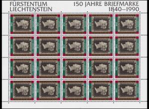 986 Jubiläum 150 Jahre Briefmarken, Kleinbogen **