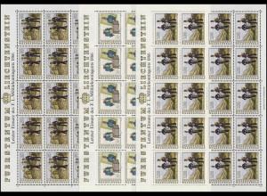 1020-1022 Fürstlich Liechtensteinisches Militärkontingent, Kleinbogen-Satz **