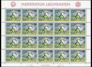 1023 Freimarke: Berge - Ochsenkopf, Kleinbogen **