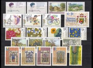 1124-1144 Liechtenstein Jahrgang 1996 komplett, postfrisch