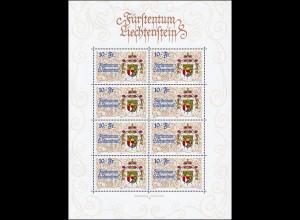 1136 Jubiläum 75 Jahre neue Verfassung, Kleinbogen **