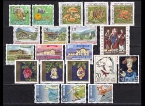 1145-1164 Liechtenstein Jahrgang 1997 komplett, postfrisch