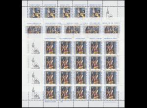 1183-1185 Weihnachten 1998, 3 Werte, Kleinbogen-Satz **